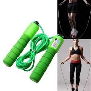 Springen touwen met Counter sport fitness verstelbare snelle snelheid tellen Jump Skip touw skipping Wire (groen)