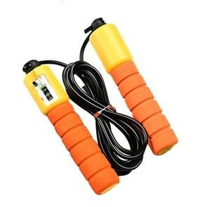 Sprong touwen met teller Sport Fitness instelbare snelheid tellen sprong Skip Rope Skipping Wire(Orange)