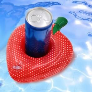 10 PCS Strawberry Shape Opblaasbare Coaster Floating Water Drink Cup Holder