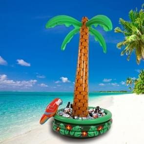 Opblaasbare Parrot Coconut Tree Shape Beach Water Opblaasbare Coaster Ice Bucket