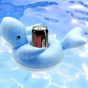 PVC Whale Shape Inflatable Coaster Water Cup Holder  Maat:34 x 28cm
