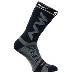 Men Women Coolmax Cycling Socks Breathable Basketball Running Football Socks(Black)