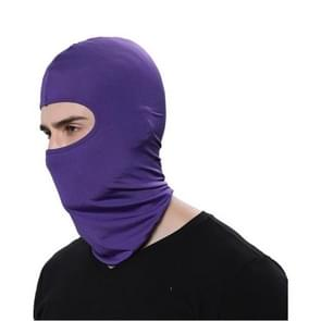 Outdoor Full Face Mask Men Hat Motorcycle Biker Lycra Windproof Hood Cover Scarf Neck Hats Men(purple)