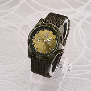 055 Men Canvas Strap Luminous Watch(Green )