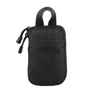 1000D nylon tactische tas buiten taille Fanny Pack mobiele telefoon sleutel mini tools waterdichte sport Pouch (zwart)