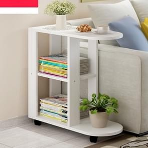 Moderne woonkamer beweegbare hoek koffietafel hout kant kasten bed koffie thee tafel  grootte: 60x30x67cm (stijl een warm wit)