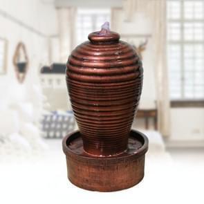 Stromende waterfontein decoratie indoor desktop humidifier  CN Plug(2155 Gold)