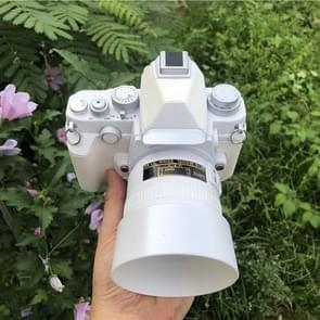 Niet-werkende Fake DUMMY DSLR Camera Model DF Model Room Props Ornaments Display Photo Studio Camera Model Props  Kleur: Wit (Met Kap)