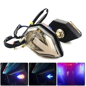 2 PCS Mini Light Guide Arrow Side Light Motorcycle Turn Signal (Geel Blauw)