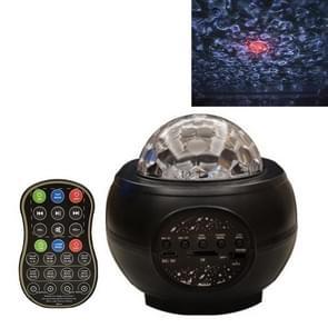 M2 8W Christmas Starry Sky Laser Projectie Sfeer Licht roterende Starry Dynamic Water Pattern Slaaplicht  Specificatie: Batterij (Zwart)