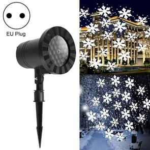 Kerstmis Sneeuw Outdoor Waterproof Projection Lamp Landscape Lawn Decoratie Licht (EU Plug)