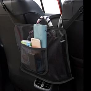 2 PCS Car Storage Net Pocket Between Two Seats Car Screen Suspension Type Storage Bag Universal  Physical dimension: 40x12x26cm(Upgrade Black) 20x12x26cm(Upgrade Black)