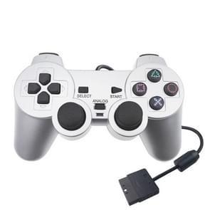 Bedrade Gamepad Dual Motor Vibration Silver Fuel Injection Gamepad geschikt voor PS2