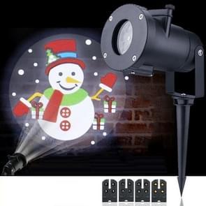 4W LED Kerst animatie projectie lamp outdoor waterdicht gazon decoratieve licht EU Plug