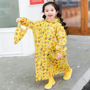 De regenjas van kinderen met schoolzakzetel en poncho regentoestel  grootte:m(geel)