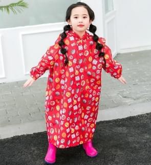 Children Regenjas met schooltas stoel en Poncho regenkleding  maat:XL (rood)