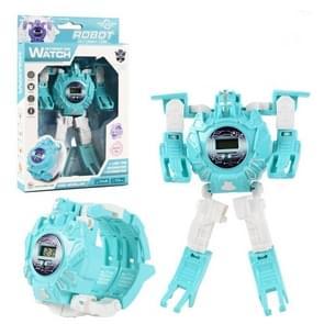 3 PCS kinderen elektronische horloge cartoon vervorming robot speelgoed horloge (blauw)