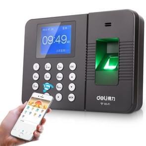 Deli 3960CS Fingerprint Time Attendance Machine Fingerprint Recognition Check-in Machine with 2.4 inch Color Screen  CN Plug
