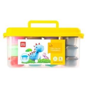 Deli Super Light Clay Tool Set Kinderen Speelgoed Modder Lichte Klei  Specificatie: 24 Kleuren