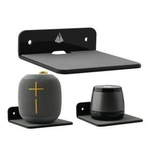 Bluetooth Speaker Wall Storage Bracket Bedside Speaker Phone Charging Bracket(Zwart)