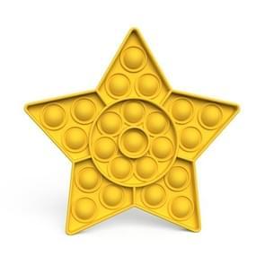 2 PCS Kinderen Wiskundige Logica Educatieve Speelgoed Siliconen Persen Parent-Child Interactive Board Game  Stijl: Vijfpuntige Ster (Geel)