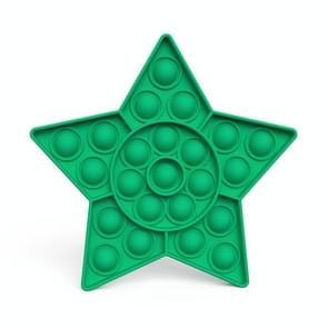 2 PCS Kinderen Wiskundige Logica Educatieve Speelgoed Siliconen Persen Parent-Child Interactive Board Game  Stijl: Vijfpuntige Ster (Groen)