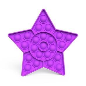 2 PCS Kinderen Wiskundige Logica Educatieve Speelgoed Siliconen Persen Parent-Child Interactive Board Game  Stijl: Vijfpuntige Ster (Paars)
