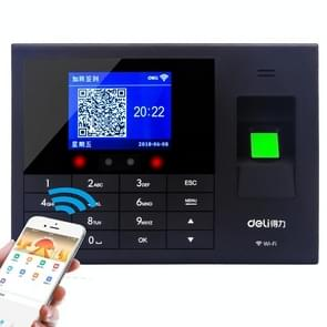 Deli 3765C Face Swiping Vingerafdruk Punch Card Machine Gezichtsherkenning Sign-In Machine  CN Plug