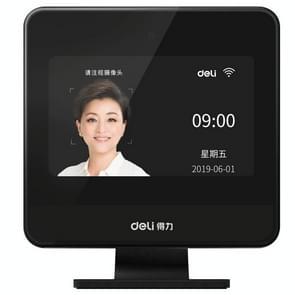 Deli D6 High-Speed Face Swiping Card Machine ondersteunt maskerherkenning Gezichtsherkenning Sign-In Machine met 4 0 inch TFT Display Screen  CN Plug