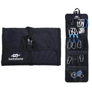 LUCKSTONE Outdoor Klimmen Rope Hook Opslag Zak Klimmen Apparatuur organiseren bag tool bag (Zwart)