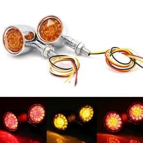 Motorfiets universele retro LED richtingaanwijzer licht (galvaniseren shell gele deksel)