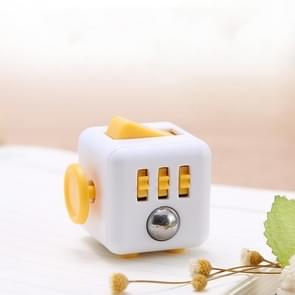 3 STUKS Decompressie Cube Toy Adult Decompressie Dobbelstenen  Kleur: Wit + Oranje
