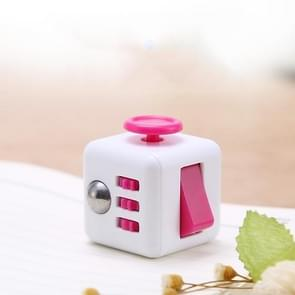 3 STUKS Decompressie Cube Toy Adult Decompressie Dobbelstenen  Kleur: Wit + Rose Rood