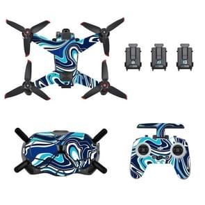 STARTRC UAV + afstandsbediening + bril lichaam beschermende PVC sticker voor DJI FPV (kleurrijk blauw)