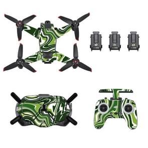 STARTRC UAV + afstandsbediening + bril lichaam beschermende PVC sticker voor DJI FPV (kleurrijk groen)