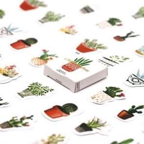 5 PC'S die vleugje groene plant hand stickers stickers DIY decoratieve zegel stickers