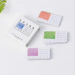 2 stks self-vulling datum frame vormige sticker zegel sticker  willekeurige kleur levering