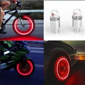 2 stuks fiets leveringen Neon strobe LED band Valve Caps Lights