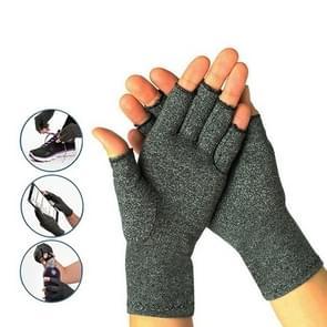 Halve vinger fietsen handschoenen artritis druk gezondheid handschoenen hoge elastische ademend anti-oedeem revalidatie rijden Glov  grootte: L (grijs)