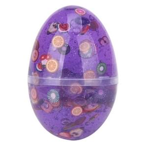 3St/set slime ei kleurrijke zachte geurende stress relief Toy plasticine speelgoed (paars)