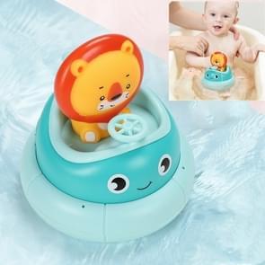 Kinderen Badkamer Elektrische Roterende Cup Water Spray Zwemmen Puzzel Water Speelgoed (Blauwe Leeuw)