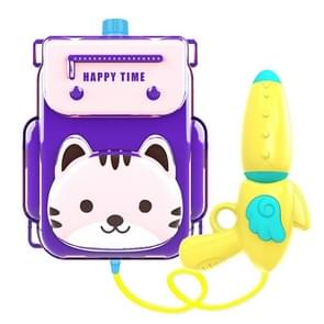 Childrens Rugzak Water Speelgoed Animal Cartoon Rugzak Pull Air Pressure Jet Speelgoed (Kitty)