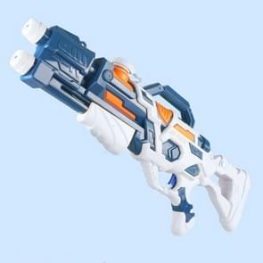 Childrens Pull-out Water Toy Large Double Water Spray Gun Summer Beach Play Toys(913 Blue Orange)