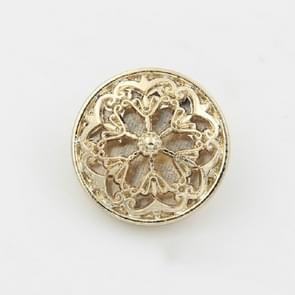 Gold 100 PCS Hollow Flower Shape Metal Button Kleding Accessoires  Diameter:18mm