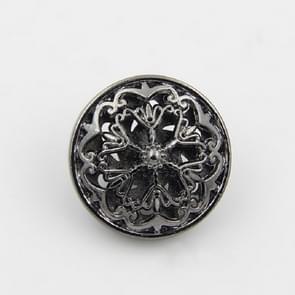 Zwarte 100 PCS Hollow Flower Shape Metal Button Kleding Accessoires  Diameter:18mm