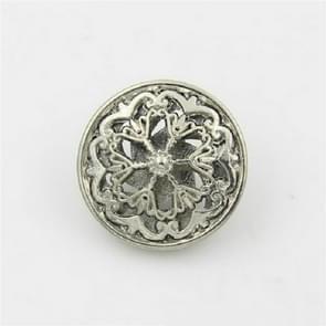 Silver 100 PCS Hollow Flower Shape Metal Button Kleding Accessoires  Diameter:18mm