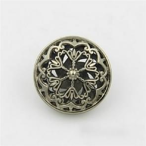 Thee Gold 100 PCS Hollow Flower Shape Metal Button Kleding Accessoires  Diameter:22mm
