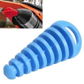 Motorfiets Uitlaat Pijp Motocross Uitlaat PVC Air-bleeder Plug Uitlaat uitlaatdemper Muffler Wash Plug Pipe Protector(Blauw)