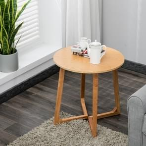 Massief houten salontafel ronde tafel Cafe woonkamer meubilair  grootte: 60x60x60cm