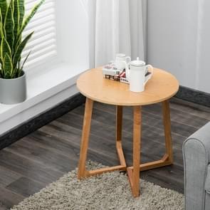 Massief houten salontafel ronde tafel Cafe woonkamer meubilair  grootte: 60x60x70cm